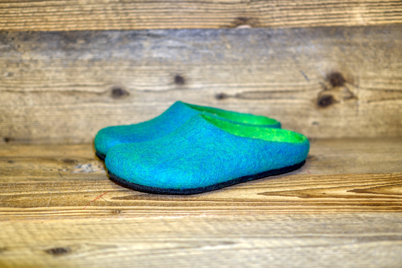 Filzpantoffel AN 709 smaragd